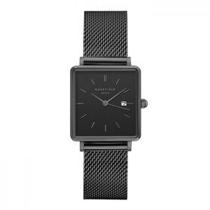 Reloj Rosefield The Boxy negro/negro. - REF. QBMB-Q04