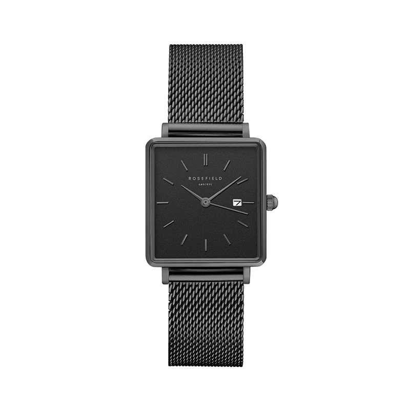 Reloj Rosefield The Boxy negro/negro. - REF. QBMB-Q04 - Movil