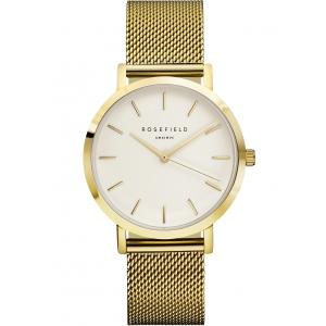 Reloj Rosefield Mercer blanco/dorado. - REF. MWG-M41