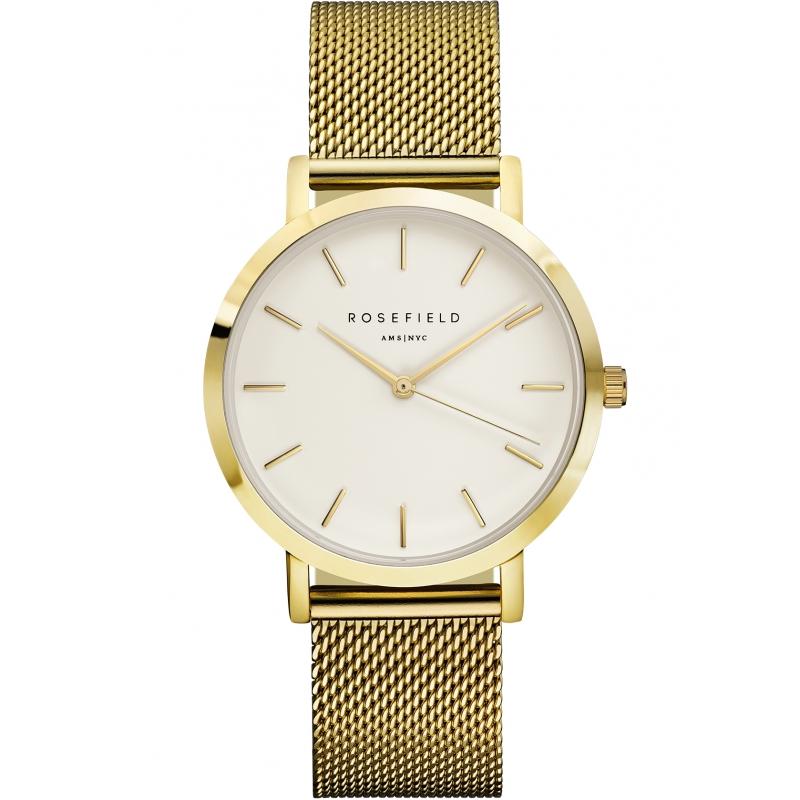 Reloj Rosefield Mercer blanco/dorado. - REF. MWG-M41 - Movil