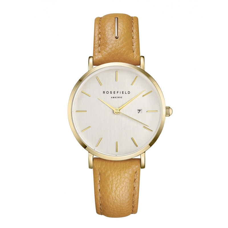 Reloj Rosefield September Issue dorado/piel beige. - REF. SIFE-I80 - Movil
