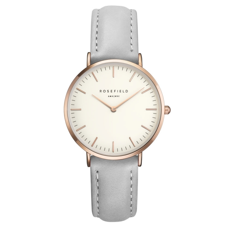 Reloj Rosefield The Tribeca blanco/gris. - REF. TWGR-T57 - Movil