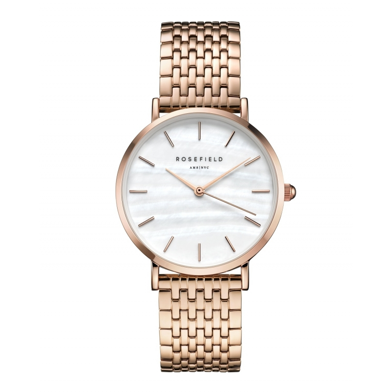 Reloj Rosefield Upper East Side blanco/rosado. - REF. UEWR-U20 - Movil