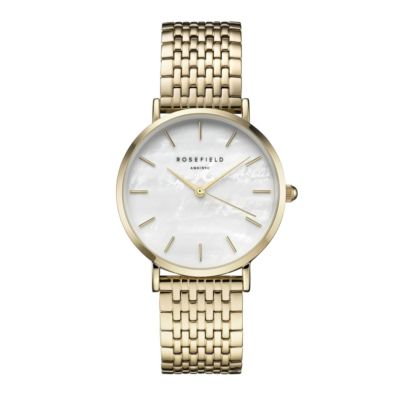 Reloj Rosefield Upper East Side blanco/dorado. - REF. UEWG-U21 - Movil