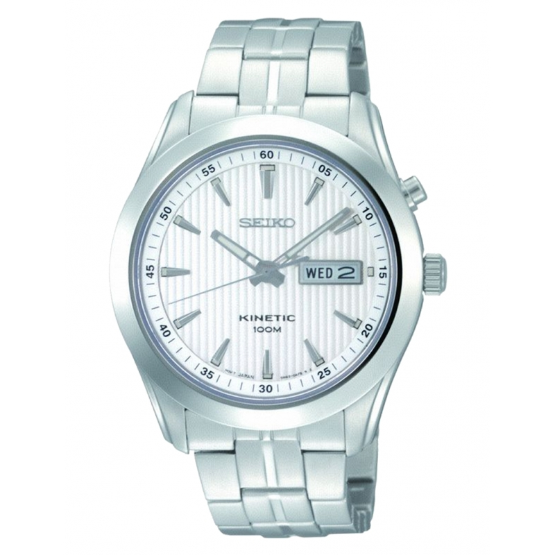 Reloj Seiko Kinetic Silver Dial - REF. SMY101P1 - Movil