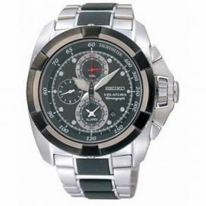 Reloj Seiko Velatura Black Dial Chrono - REF. SNAA93