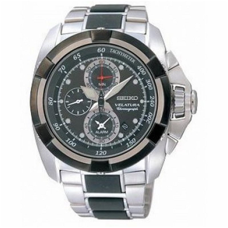 Reloj Seiko Velatura Black Dial Chrono - REF. SNAA93 - Movil