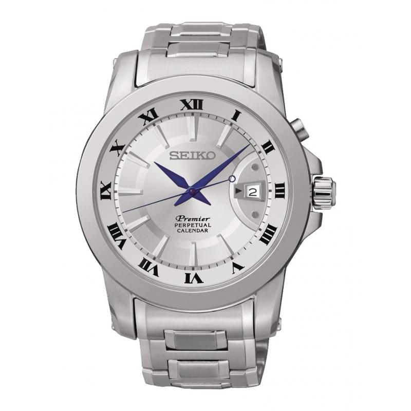 Reloj Seiko Premier Calendario Perpetuo - REF. SNQ139P1 - Movil