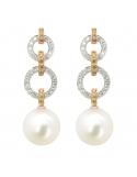 Producto anterior Pendientes oro blanco/rosa 1ª ley, diamantes y perlas australianas. - REF. N-5235-3P