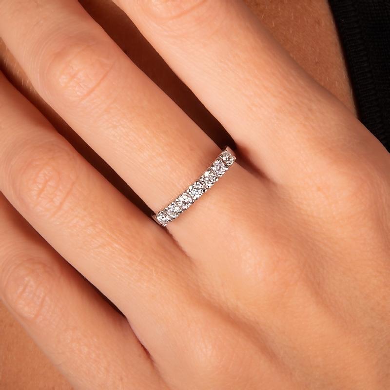 Anillo oro blanco 1ª ley y 7 diamantes 0,31 ct - REF. N-2727/4S - Movil