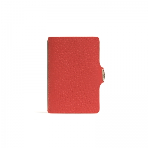 Clip tarjetero en piel rojo. - REF. 13405 1