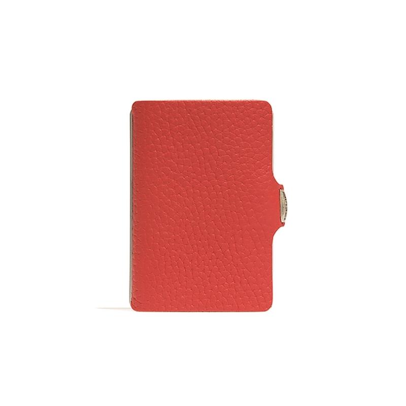 Clip tarjetero en piel rojo. - REF. 13405 - Movil