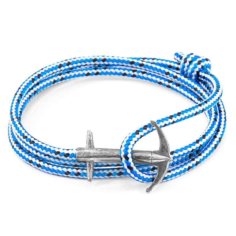 Pulsera Anchor & Crew plata y cuerda azul. - REF. AC.SI.AD2 - Movil