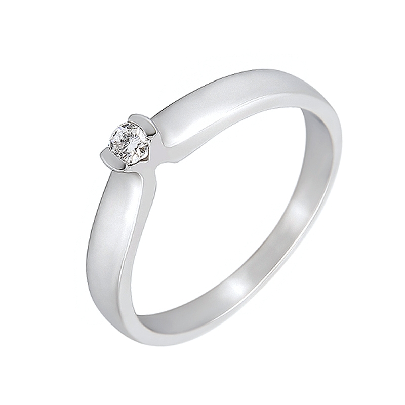 Solitario compromiso oro blanco 1ª ley y diamante 0,08 ct - REF. N-7235S - Movil
