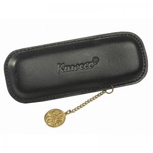 Estuche negro moneda 2 Pzs Kaweco. - REF. KA LEATHER