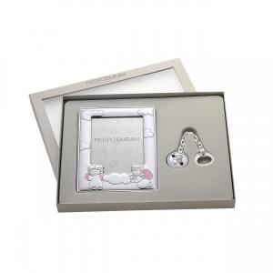 Set Querubín en rosa de plata bilaminada. - REF. 07500427
