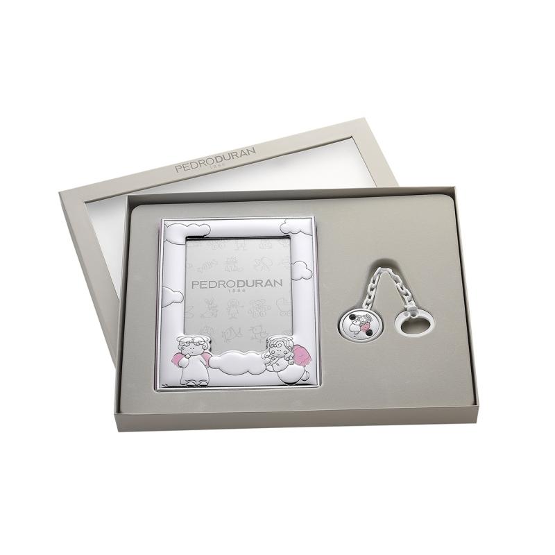 Set Querubín en rosa de plata bilaminada. - REF. 07500427 - Movil
