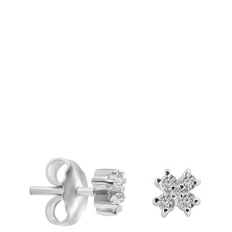 Pendientes flor mini oro 1ª ley y diamantes. - REF. N-5248/1P - Movil