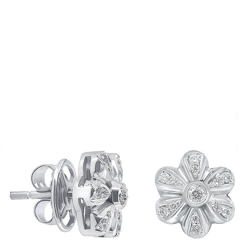 Pendientes flor grande oro 1ª ley y diamantes. - REF. N-5216/5P - Movil