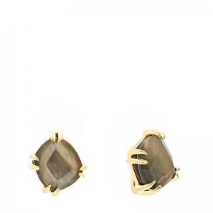 Pendientes Coolook plata dorada y cuarzos/madreperla - REF. ND015ANT