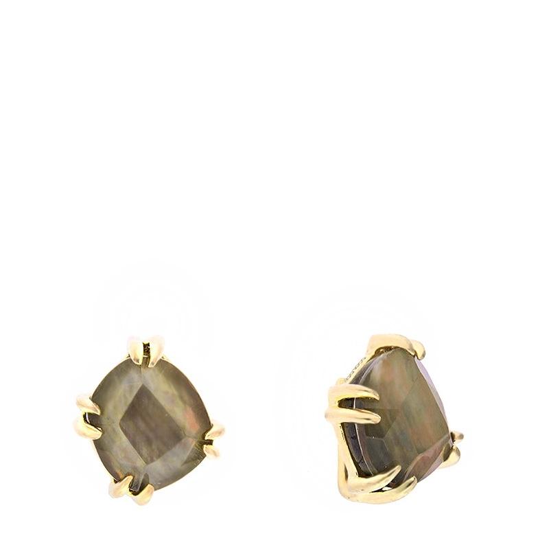 Pendientes Coolook plata dorada y cuarzos/madreperla - REF. ND015ANT - Movil