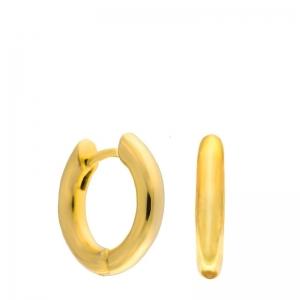 Par pendientes aros pequeños Coolook plata dorada. - REF. ND076A