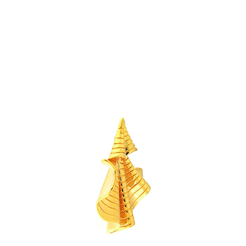 Par pendientes Coolook alga plata dorada. - REF. ND148AC - Movil