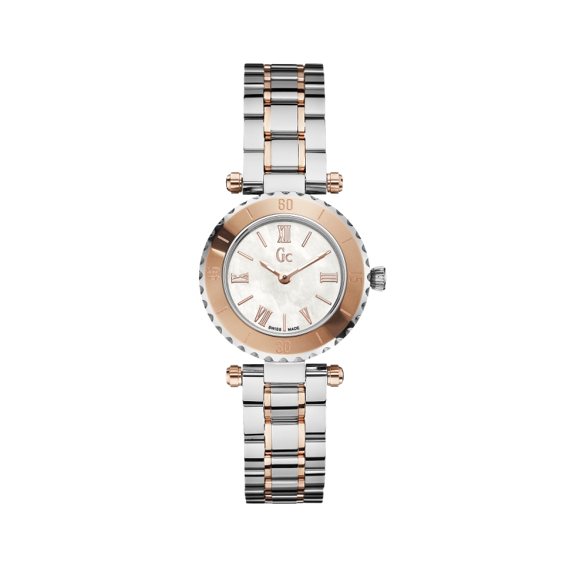 Reloj Guess Collection Mini Chic bicolor. - REF. X70027L1S - Movil