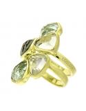 Producto anterior Anillo plata dorada y amatistas verdes. - REF. IL036AV-M