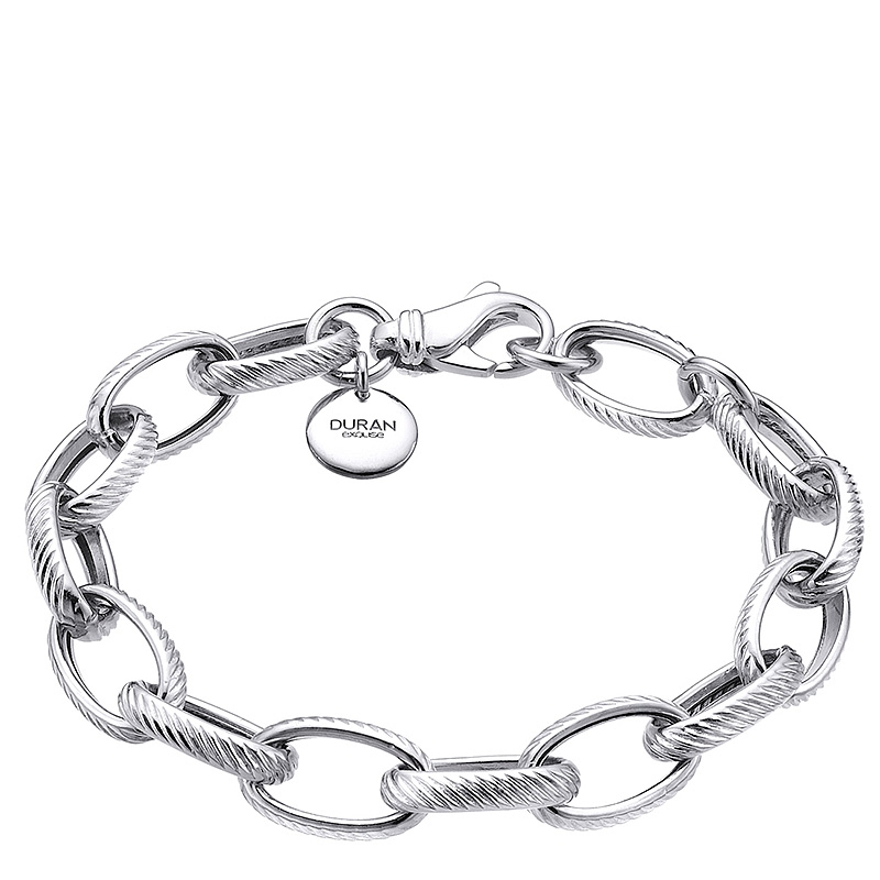 Pulsera Links con eslabones grandes de plata. - REF. 00507213 - Movil