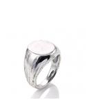 Producto anterior Anillo/sello Chevalier simple de plata. - REF. 09297/16