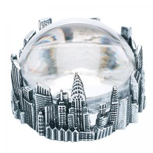 Lupa de mesa Gotham City de bronce blanco. - REF. B0146