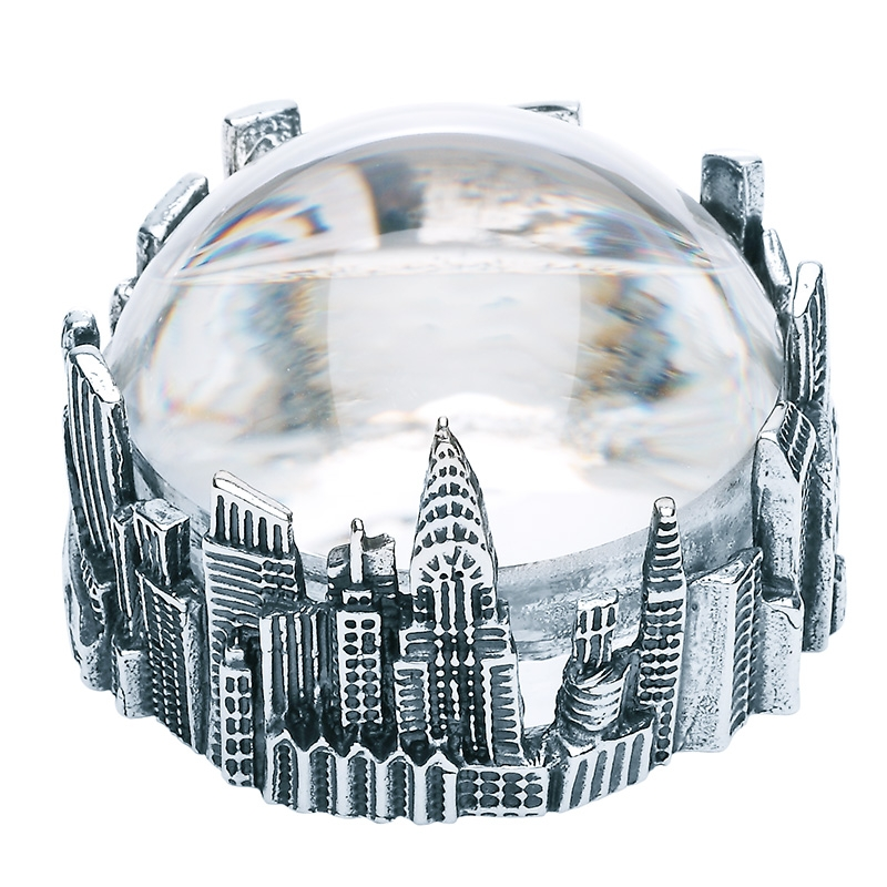 Lupa de mesa Gotham City de bronce blanco. - REF. B0146 - Movil