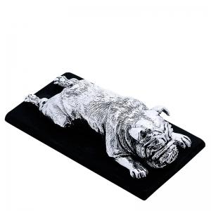 Pisapapeles Dog en bronce blanco. - REF. B0541