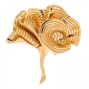 Broche Coolook alga plata dorada. - REF. SR028A