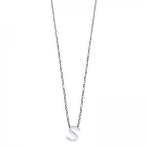 Colgante Alphabet letra S de plata. - REF. 00507338