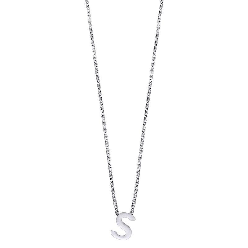 Colgante Alphabet letra S de plata. - REF. 00507338 - Movil
