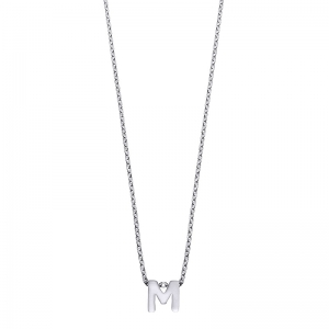 Colgante Alphabet letra M de plata. - REF. 00507330