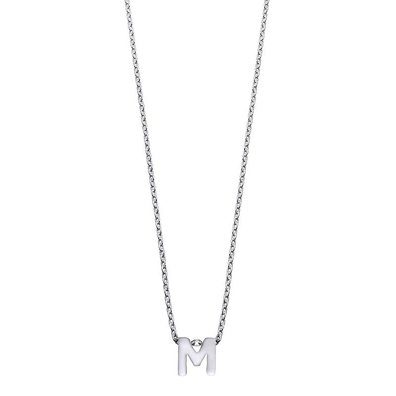 Colgante Alphabet letra M de plata. - REF. 00507330 - Movil