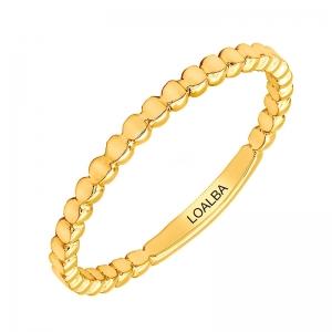 Anillo oro amarillo 1ª ley bolitas. - REF. N-7338AS