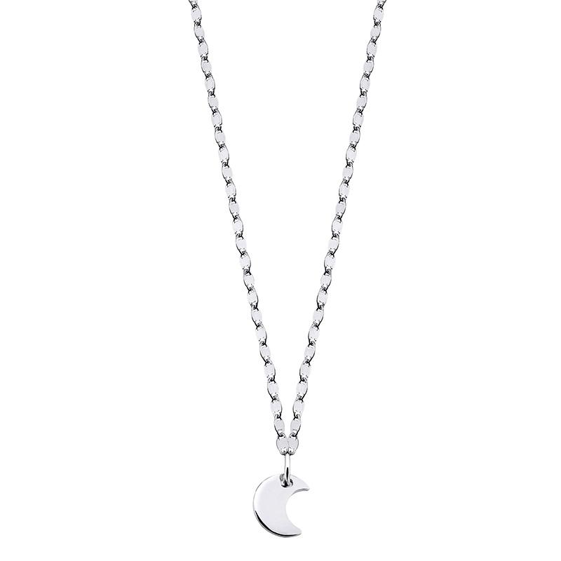 Colgante luna Astros con cadena de plata 1ª ley. - REF. 00508807 - Movil