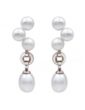 Producto anterior Pendientes plata rodiada, perlas y madreperla. - REF. N-Nº626P