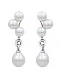 Producto anterior Pendientes plata rodiada, perlas y madreperla. - REF. N-Nº627P