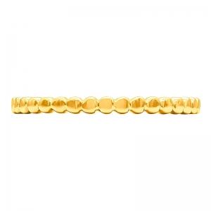 Anillo oro amarillo 1ª ley bolitas. - REF. N-7338AS 1
