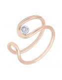 Producto anterior Anillo oro rosa/blanco 1ª ley y diamante. - REF. N-Nº645RS