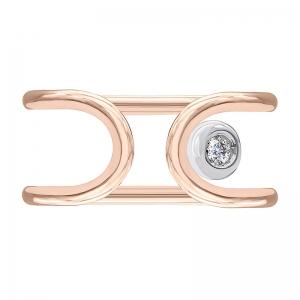Anillo oro rosa/blanco 1ª ley y diamante. - REF. N-Nº645RS 1