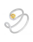 Producto anterior Anillo oro blanco/amarillo 1ª ley y diamante. - REF. N-Nº645BS
