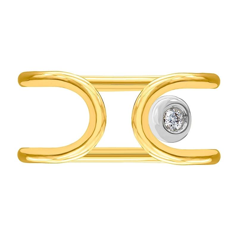 Anillo oro amarillo/blanco 1ª ley y diamante. - REF. N-Nº645AS - Movil