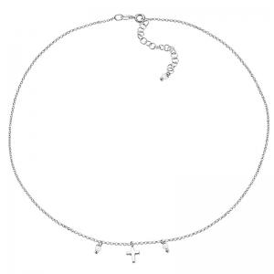 Gargantilla Mi primera joya de plata y perlas. - REF. 00508716