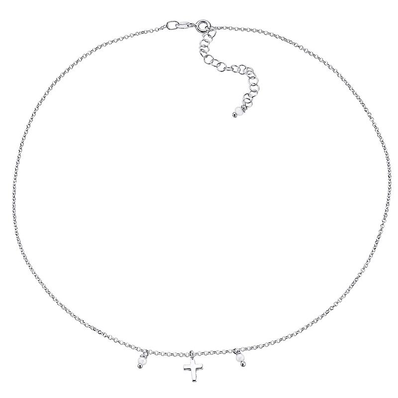 Gargantilla Mi primera joya de plata y perlas. - REF. 00508716 - Movil